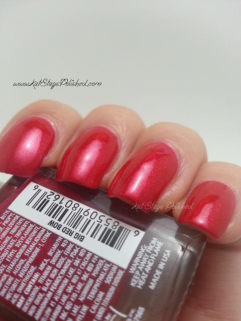 JulieG Nail Color - Big Red Bow