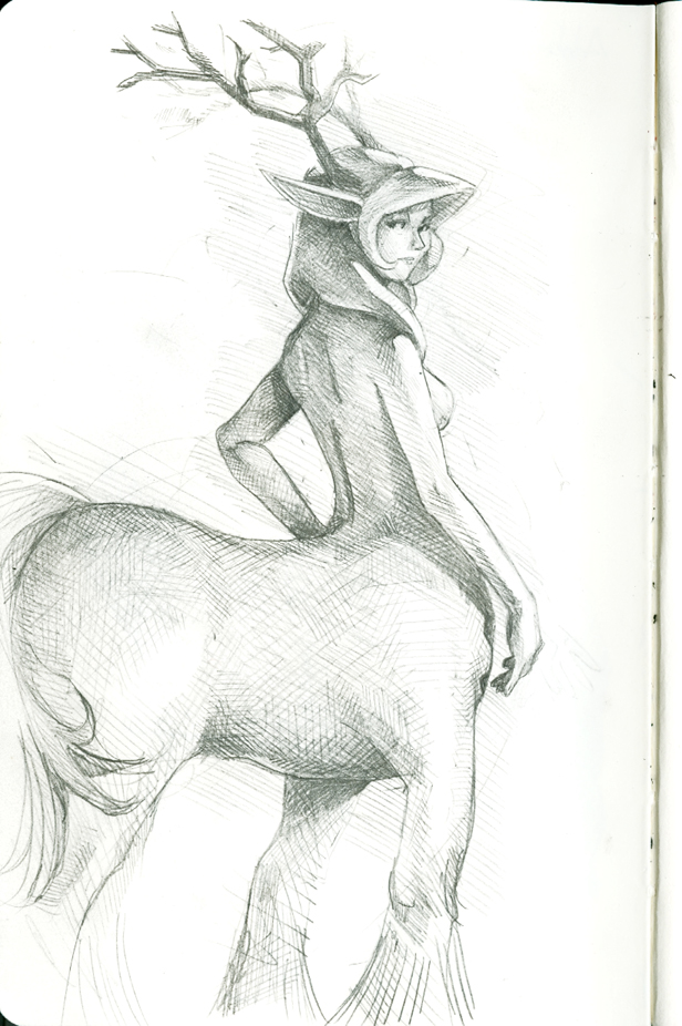 abetena more centaur sketch