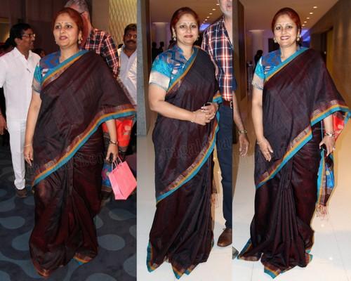 Jayasudha Brown Handloom Saree