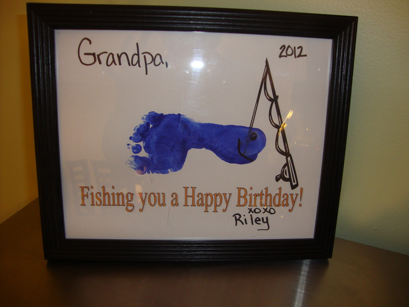 Fishing birthday print the melrose family for Fishing gifts for dad