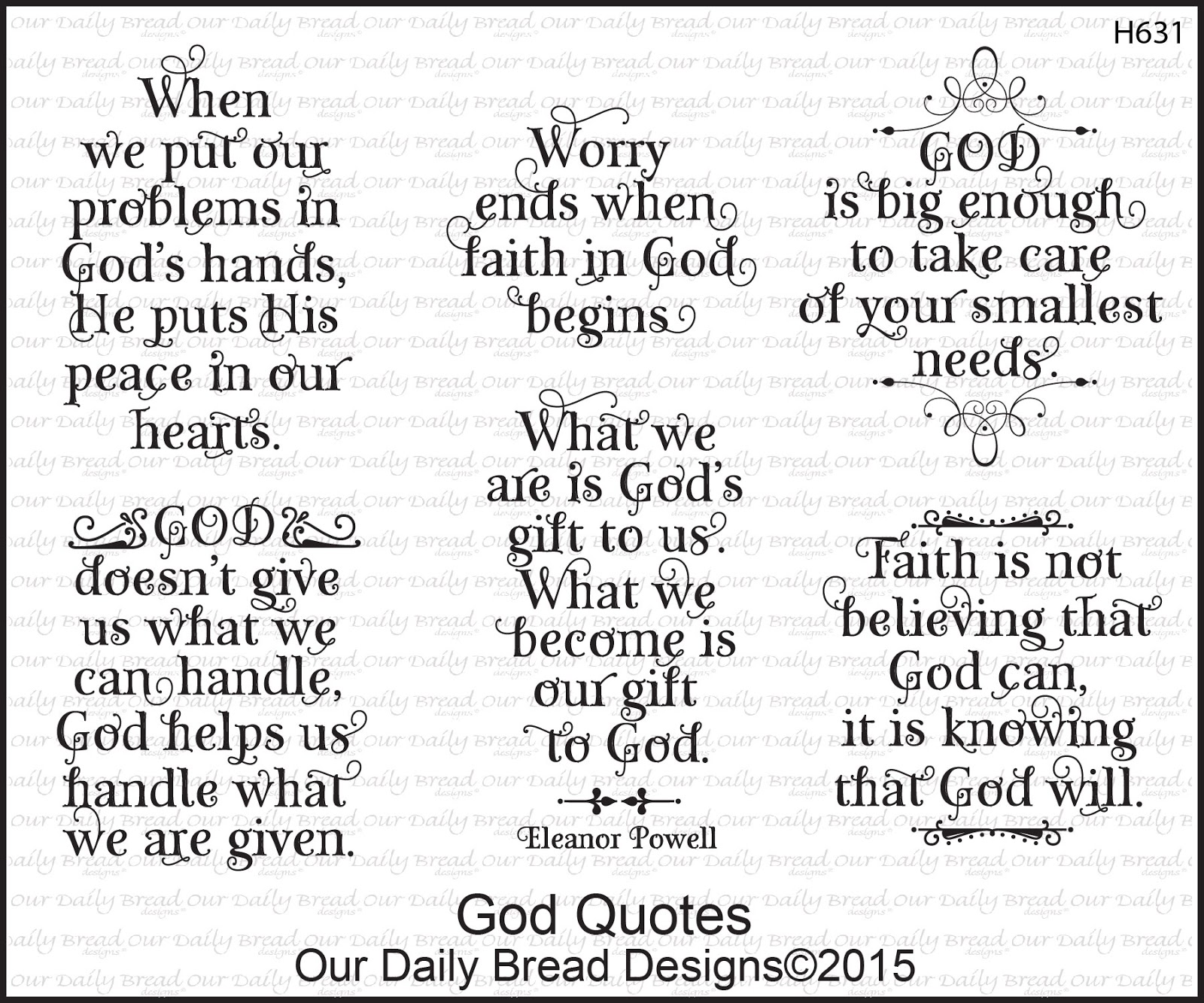 Stamps - Our Daily Bread Designs God Quotes