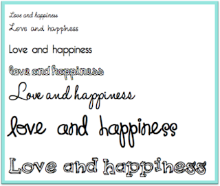 love and happiness, fonts