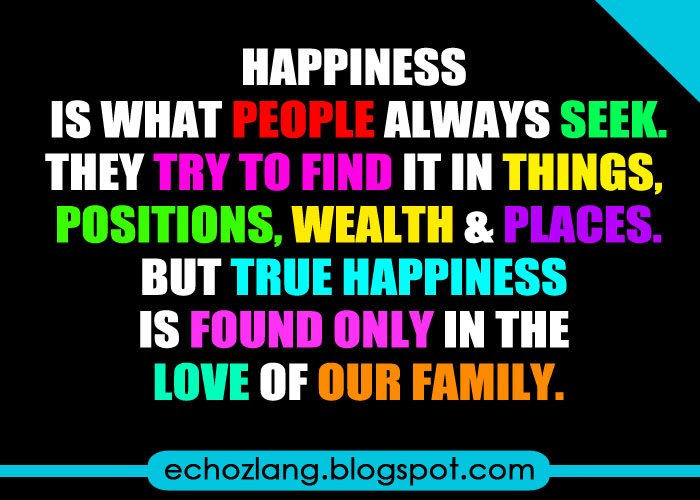 Happiness is what people always seek
