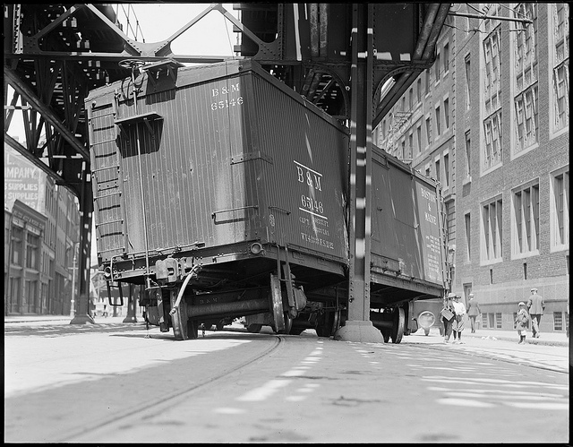 Freight car accident: Atlantic Ave.