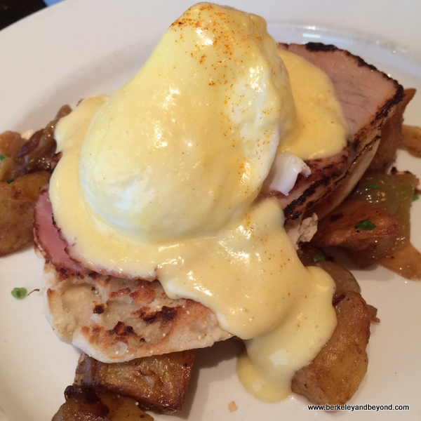 eggs Benedict at Balthazar in NYC