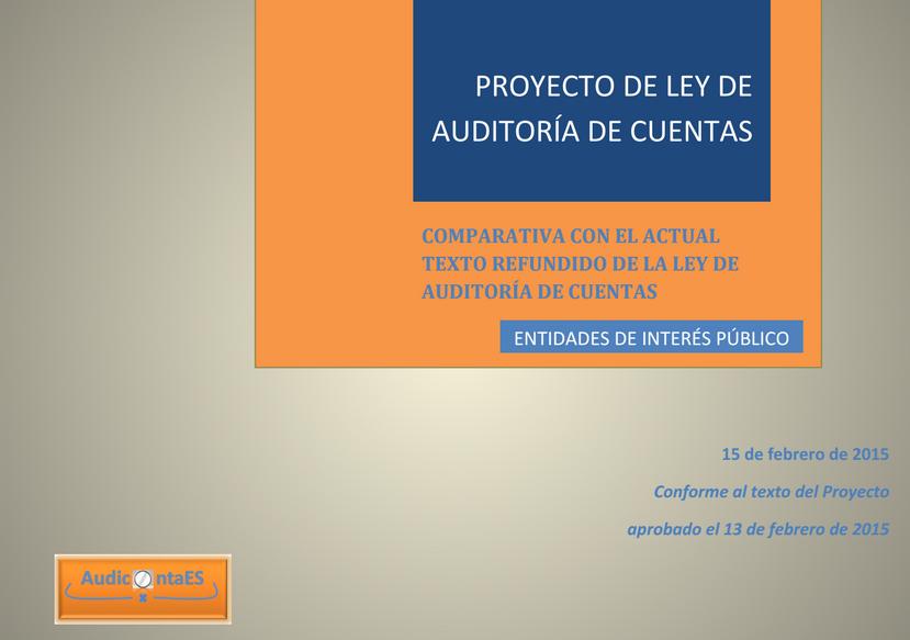 EIP Entidades de interés público Ley de Auditoría de Cuentas