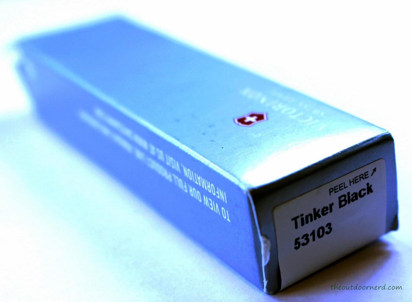 Victorinox Swiss Army Tinker Pocket Knife - Closeup Of Box 1