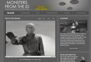 "Shows space alien in a space suit extending an open hand in greeting from ""The Day the Earth Stood Still"" 1951 movie."