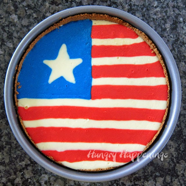 Flag Cheesecake for the 4th of July