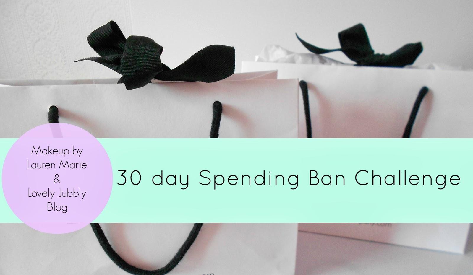 30 day spending challenge makeup beauty blog blogger