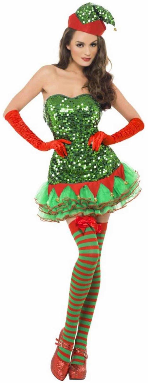 Sequin Elf Adult Costume for Christmas