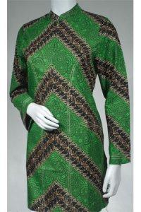Batik Kasato 502 - Hijau [ M ] (Toko Jilbab dan Busana Muslimah Terbaru)