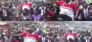 Governor Fayose spotted taking Okada ride in Ekiti