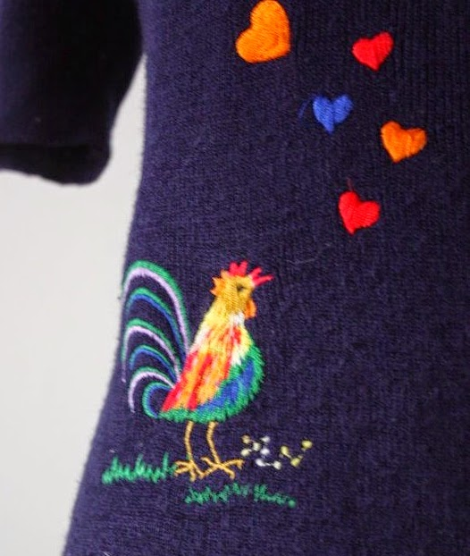 haftowana bluzka na drutach