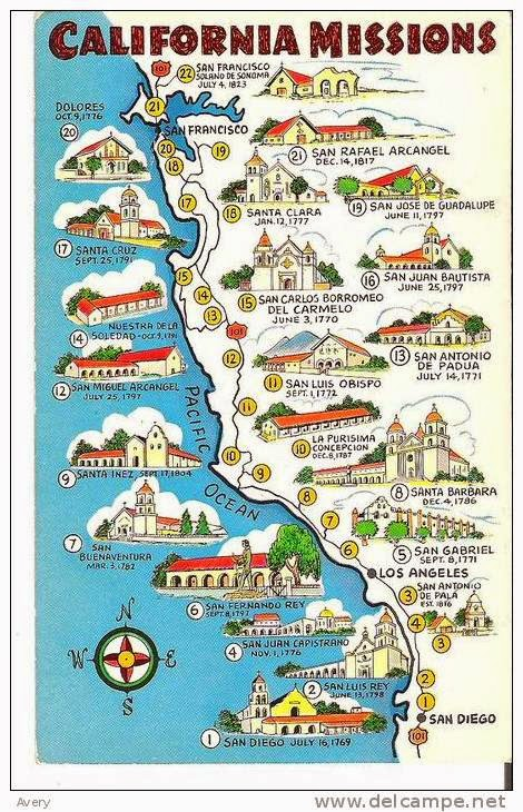 Fabulous image with california missions map printable