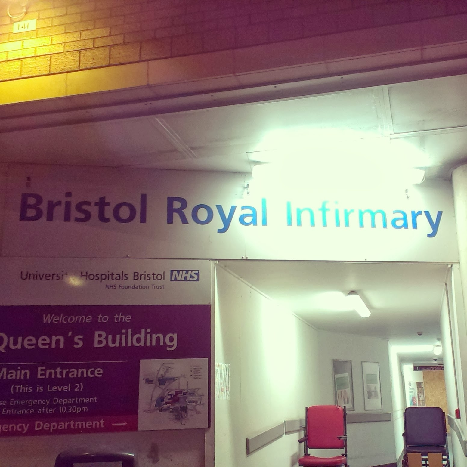 Bristol Royal Infirmary entrance