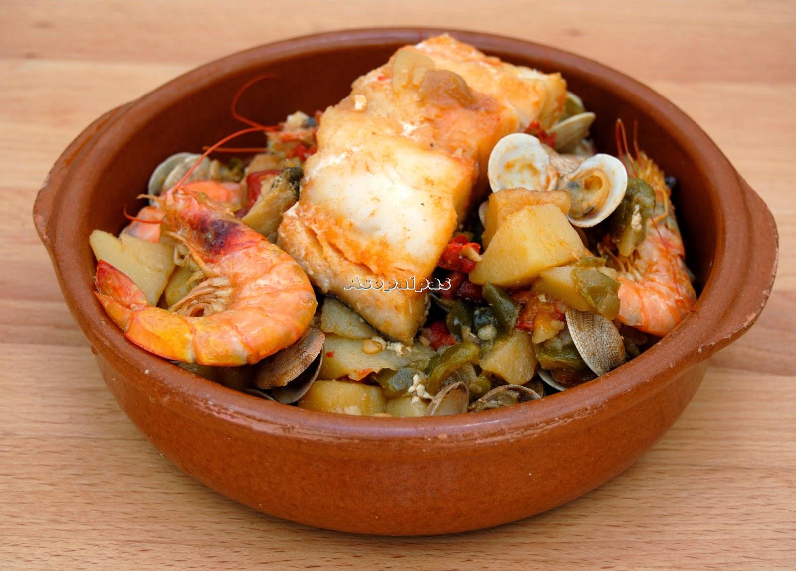 Cataplana de bacalao cataplana de bacalhau receta - Como cocinar bacalao congelado ...