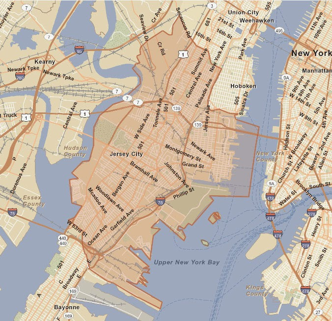 street map of jersey city usa