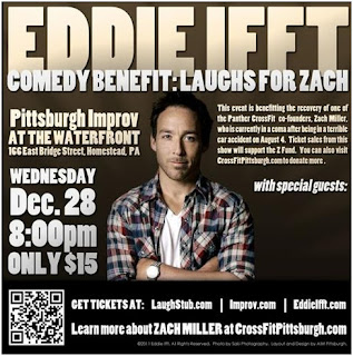 Eddie Ifft, Pittsburgh, Improv, Comedian, Benefit, Zach Miller