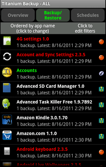 Backup di HP Android