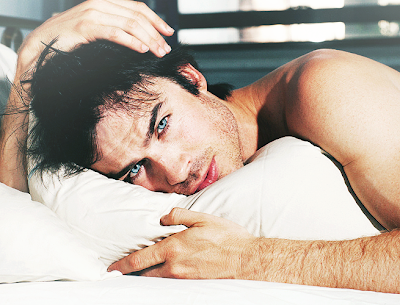 sexy  actor Ian Somerhalder morning picture from his Facebook page