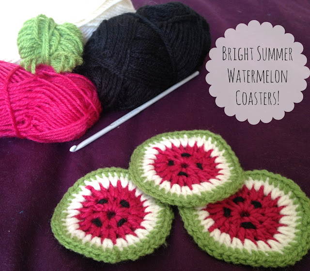 Crochet Tutorial #1: Cute Watermelon Coasters Pattern!