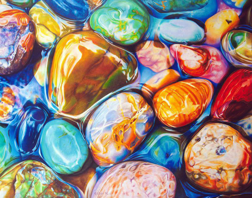 10 cool canvas painting ideas awesome canvas painting ideas with - Rainbow Rocks Polychromatic Drawings