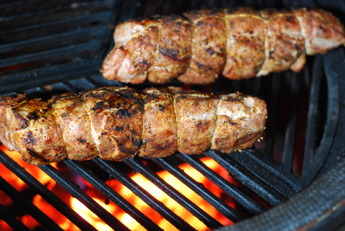 kamado grill pork tenderloin, big green egg pork tenderloin, grill dome pork tenderloin