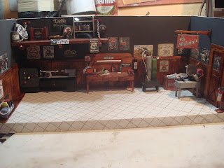 Diorama miniatura oficina