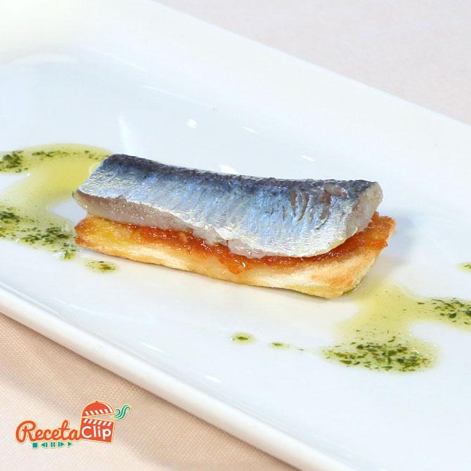 sardinas, salazón, receta, cocina, tosta, tomate,
