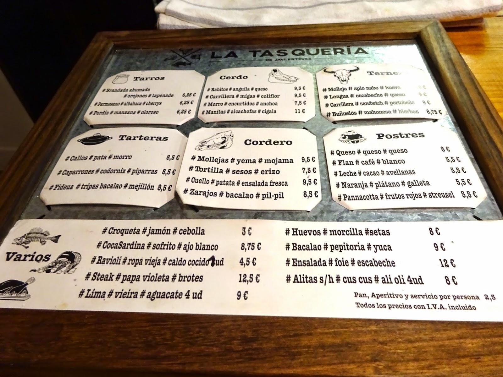 La Tasquería de Javi Estévez Madrid Duque de Sesto 48 Madrid Tasca Casquería Restaurante Barrio Salamanca Callos Carrilleras Mollejas top chef tapas Retiro Castizo estamostendenciados