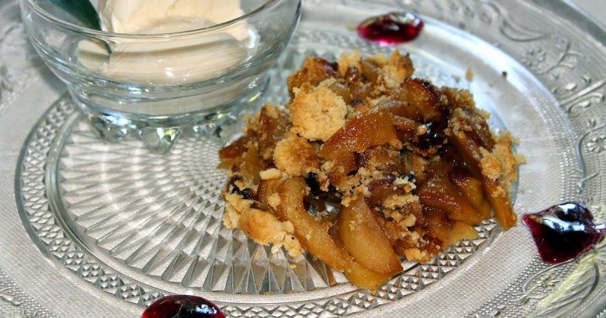 Cocina de nuestro tiempo crumble de manzana en cocotte - Cocinar en cocotte ...
