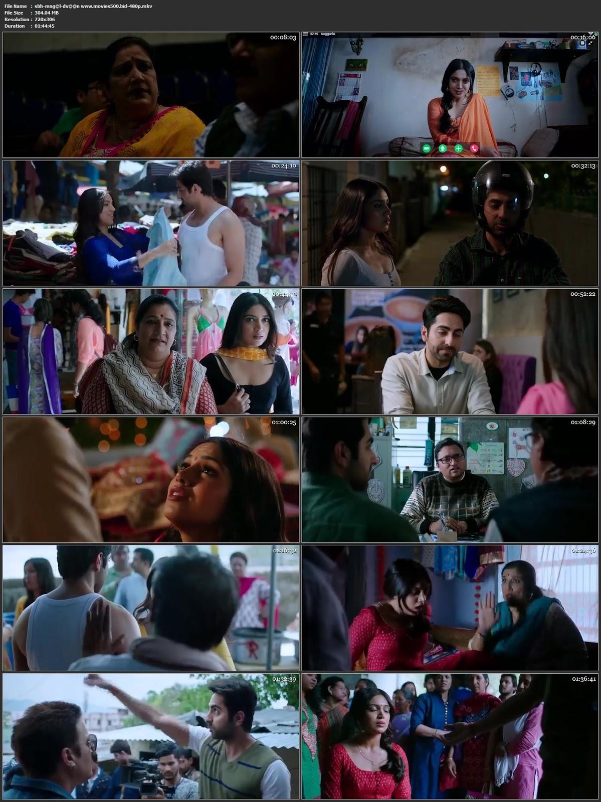 Shubh Mangal Saavdhan 2017 Bollywood 300MB DVDRip 480p