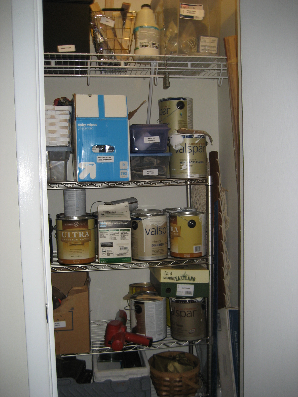 Storing Paint In Furnace Room