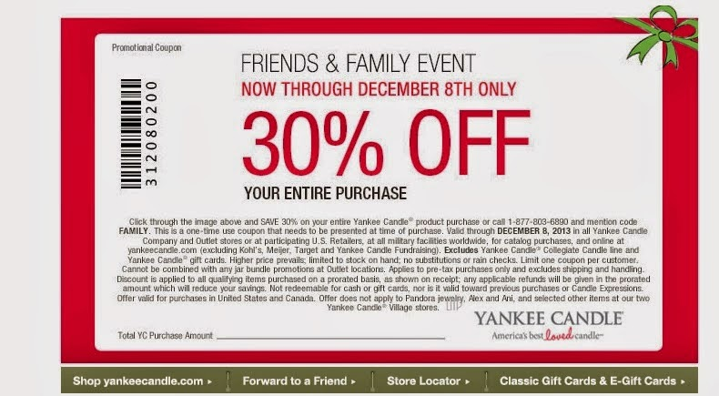Yankee candle coupon codes november 2018