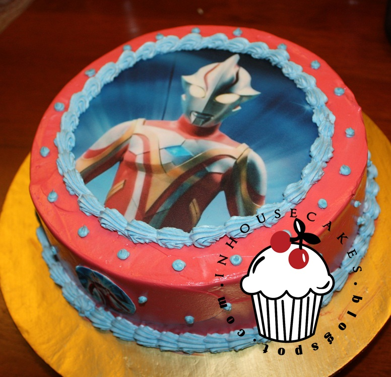 Cake With Edible Pictures : Ultraman Edible Image Cake InHouseCakes
