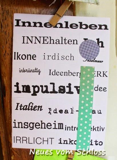 Frühlings-mail-art, neuesvomschloss.blogspot.de