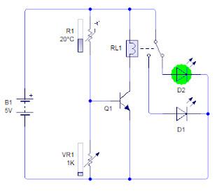 Rangkaian sensor suhu, ketika suhu tidak panas