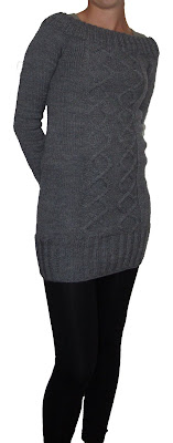 Jumper, knit,dress, grey