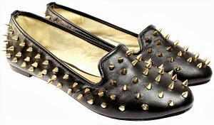 Spiked Flat Pump Shoes