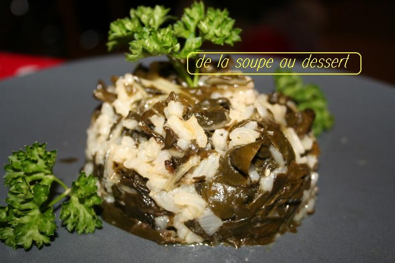 De la soupe au dessert risotto expres aux feuilles de blette - Comment cuisiner des feuilles de blettes ...