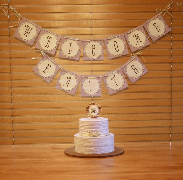 party cakes rustic lavender baby shower cake banner