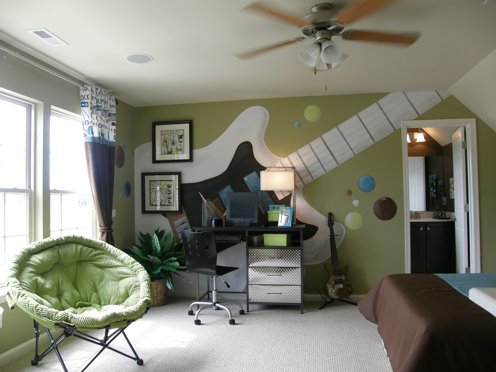 Jam session teen bedroom design dazzle - Teen boys bedroom decorating ideas ...