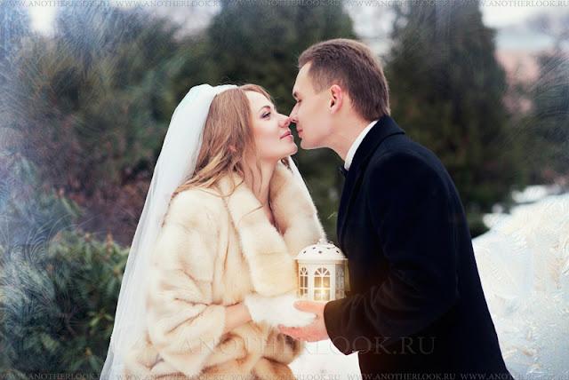 Фотосессия зимой в лесу свадьба