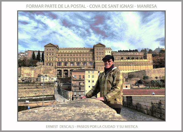 MANRESA-COVA-SANT IGNASI-MISTICA-POSTAL-PASEAR-VIVIR-FOTOS-ARTISTA-PINTOR-ERNEST DESCALS-