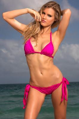 Joy Corrigan seductive hot body poses in Summerlove sexy bikini models