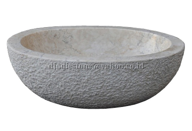 Oval Ceramic Vessel Bathroom Sink, White  Contemporary