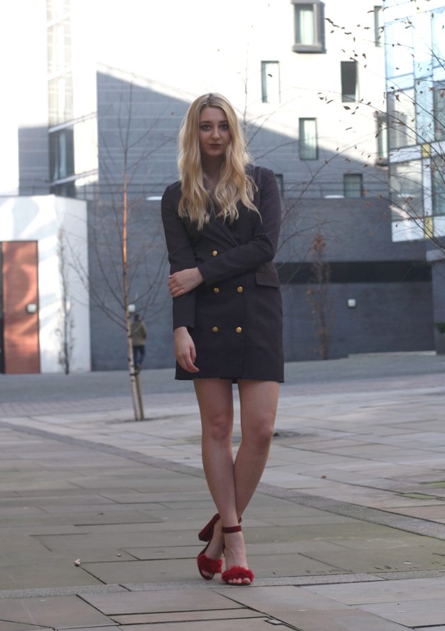 how to style blazer dress fashion blog