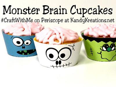 "Craft with your kids in this fun new #CraftWithMe series.  You'll find easy craft ideas that you can enjoy with your kids. These Monster Brain Cupcakes are a scary DIY that's perfect for your Halloween party, your child's classmates, or for giving with a ""You've Been Booed"" Gift."