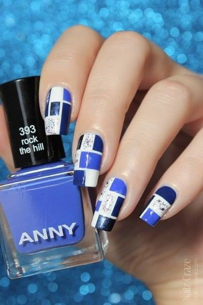 Blue And White Nails Designs | Nails